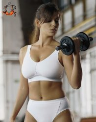 Light & Firm kényelmes sportmelltartó, fehér