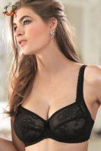 Akciós - Lace Rose merevítős csipke melltartó, fekete