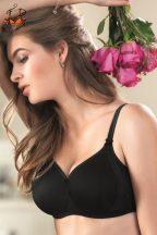 Lace Rose szivacsos melltartó, fekete
