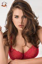 Akciós - Blossom merevítős melltartó, piros