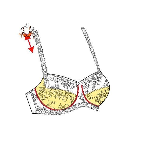Akciós - Lace Rose merevítős csipke melltartó, pezsgő