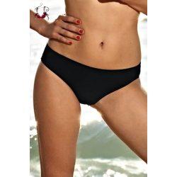 Közepes derekú bikini alsó, fekete