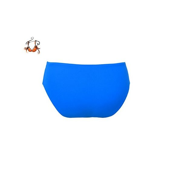Magas derekú bikini alsó, tenger kék