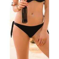 Megkötős bikini alsó, fekete