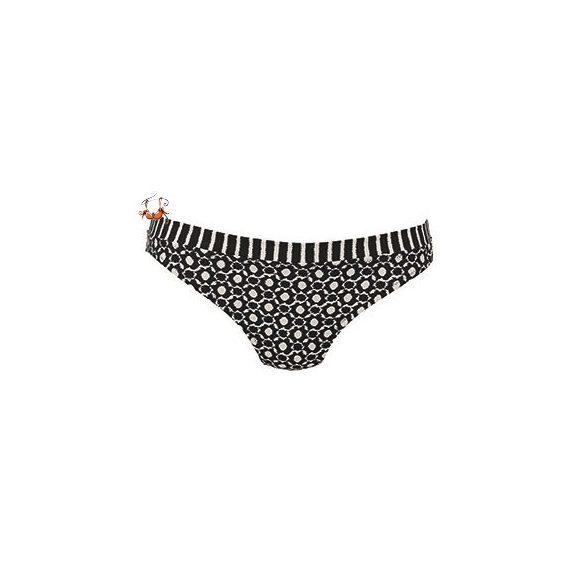 Ebby bikini alsó, fekete csíkos