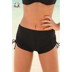 Rövid nadrágos bikini alsó, fekete