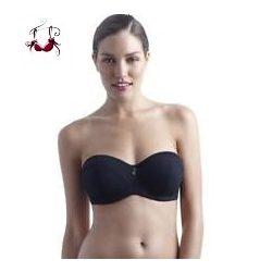 Anna Bandeau bikini felső, fekete