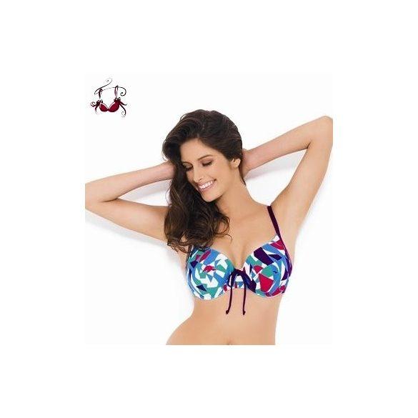 Natalie Balconett bikini felső, kék